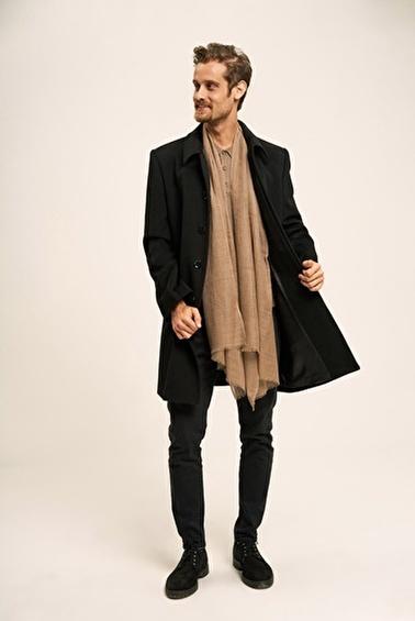 Silk and Cashmere Palto Siyah